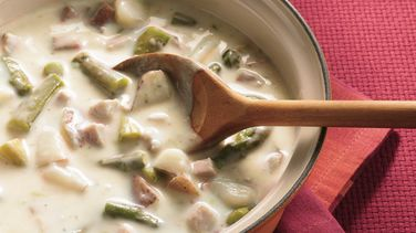 Sopa de Jamón y Espárragos