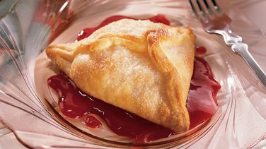 Raspberry-Sauced Fresh Pear Dumplings