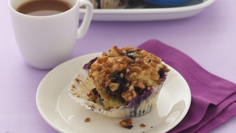 Streusel-topped Blueberry-Lemon Muffins