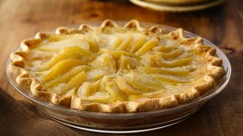 Elegant Pear Custard Pie