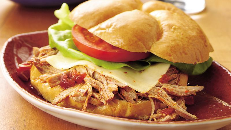 Slow-Cooker Hot Pork Sandwiches