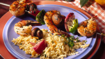 Shrimp and Vegetable Skewers