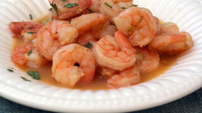 Shrimp Scampi with Beer