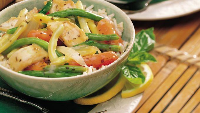 Lemon Basil Chicken and Vegetables
