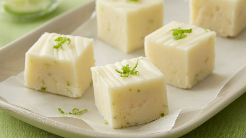 Key Lime-White Chocolate Fudge
