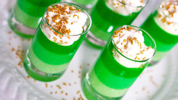 Ombre St Patrick's Day Jello Shots