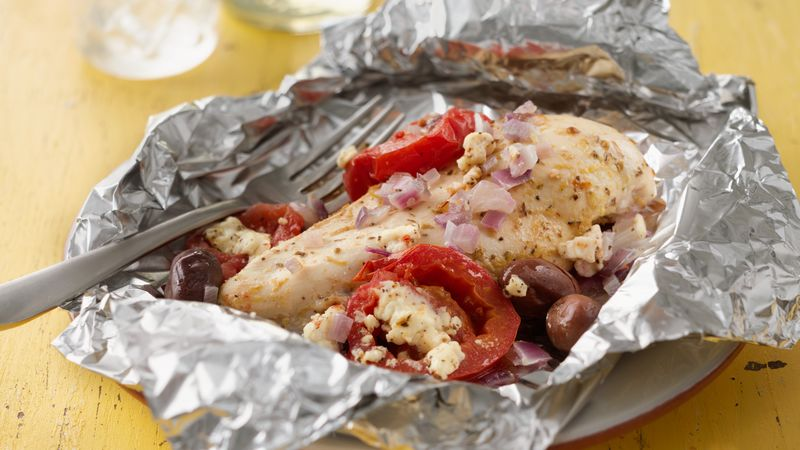 Grilled Mediterranean Chicken Foil Packs