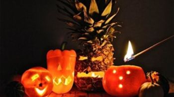 Fruit Jack-O'-Lanterns