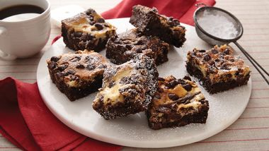 Cake Mix Cheesecake Brownies