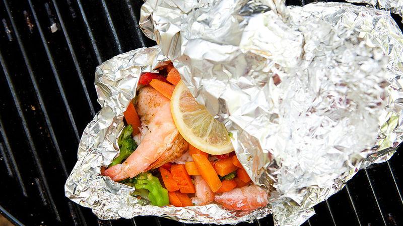 Shrimp and Veggie Foil Pack