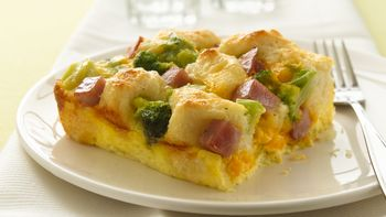 Ham and Biscuit Egg Bake