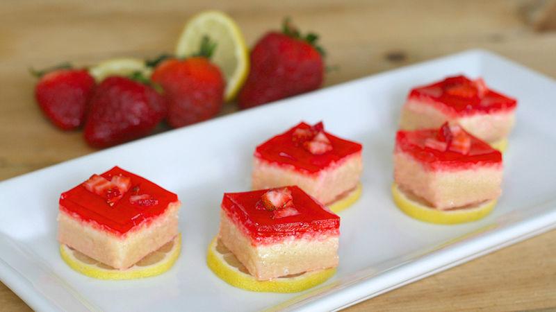Boozy Strawberry Lemonade Bars