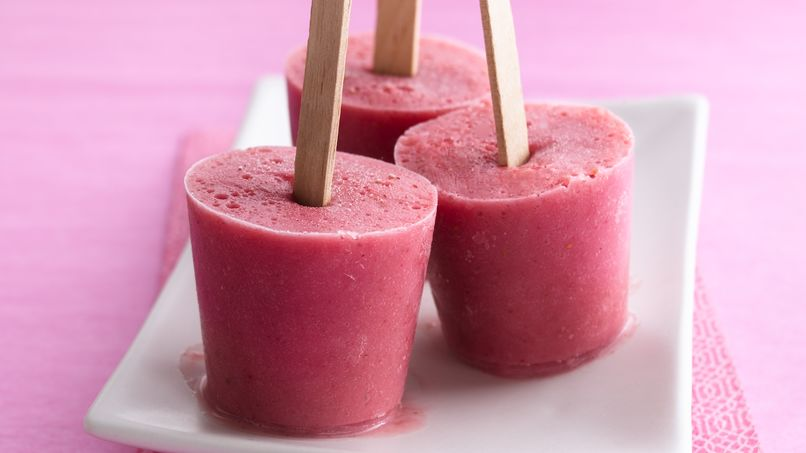 Berry-Banana Freezer Pops