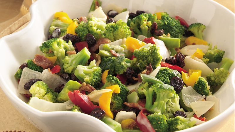 Broccoli, Pepper and Bacon Toss