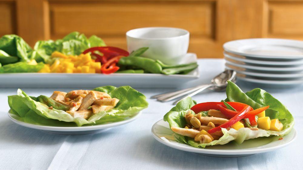 Chicken-Filled Lettuce Wraps