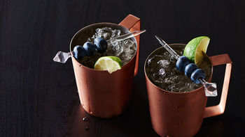 Blueberry Moscow Mule Mocktails