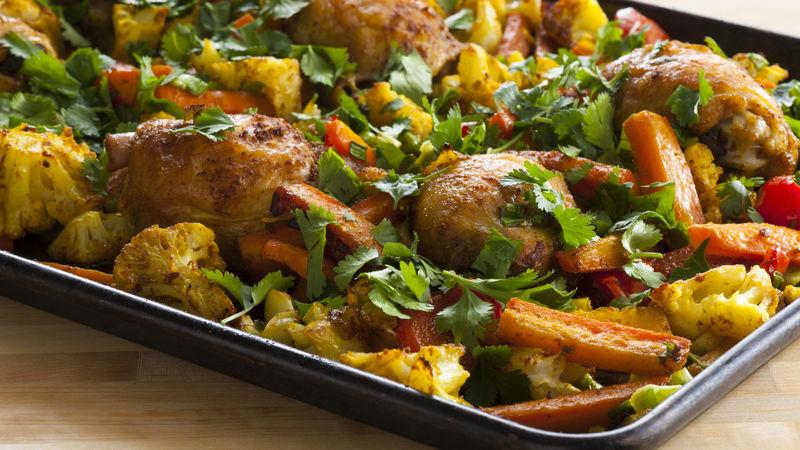 One-Pan Curried Chicken Dinner