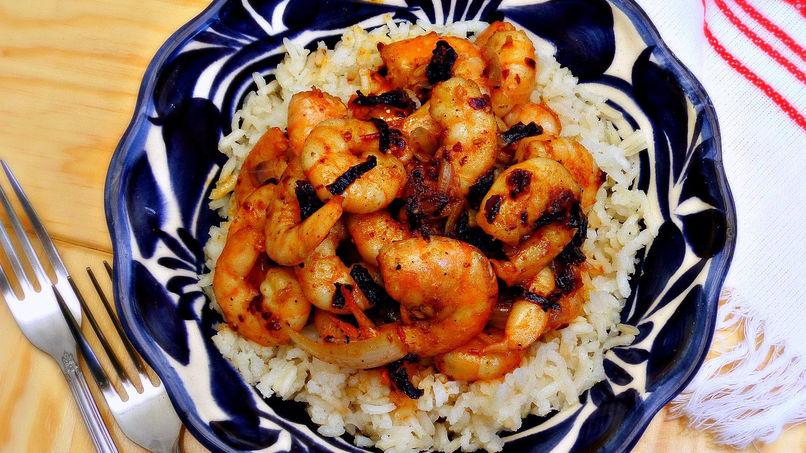 Shrimp and Ancho Pepper Stir-Fry
