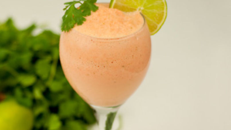 Carrot, Lemon and Cilantro Smoothie