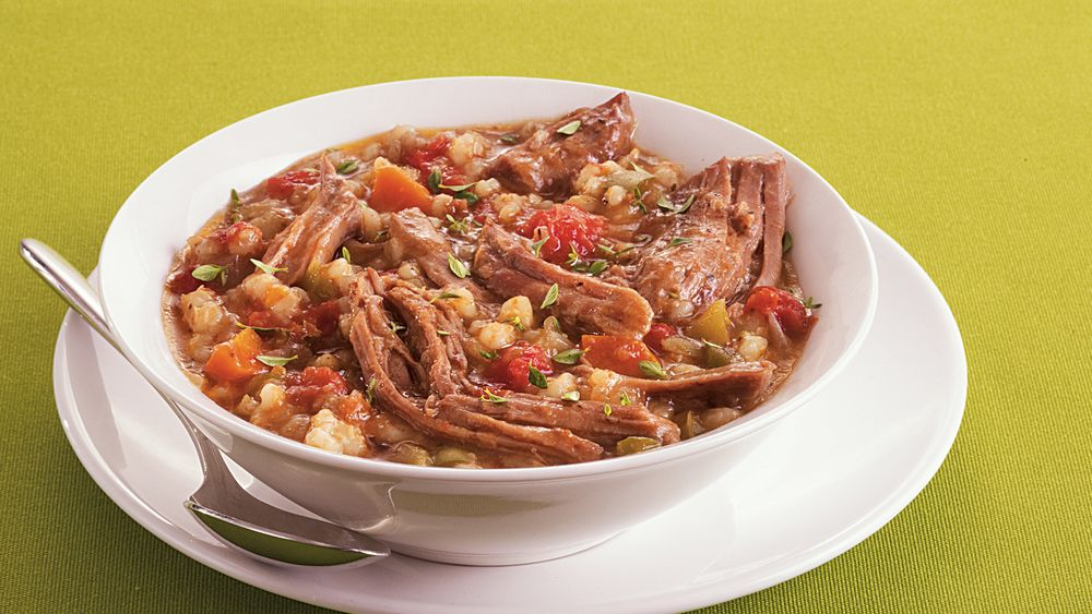Slow-Cooker Beef and Barley Stew