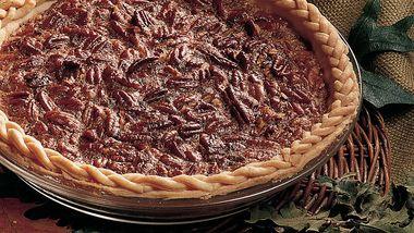Decadent Pecan Pie (lighter recipe)