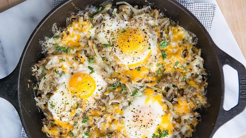 3-Ingredient Egg Breakfast Skillet