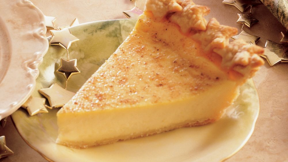 Holiday Eggnog Custard Pie
