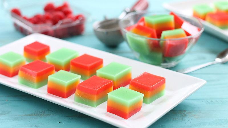 Cake Jello Shots Recipe: Rainbow Sherbet Jello Shots Recipe