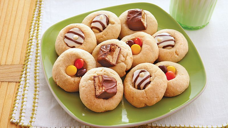 Candy Thumbprint Cookies