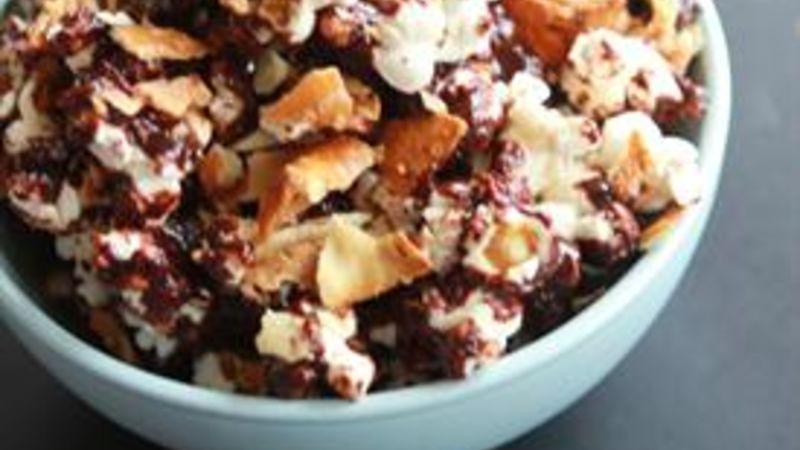 Chocolate Coffee Peanut Butter Pretzel Popcorn