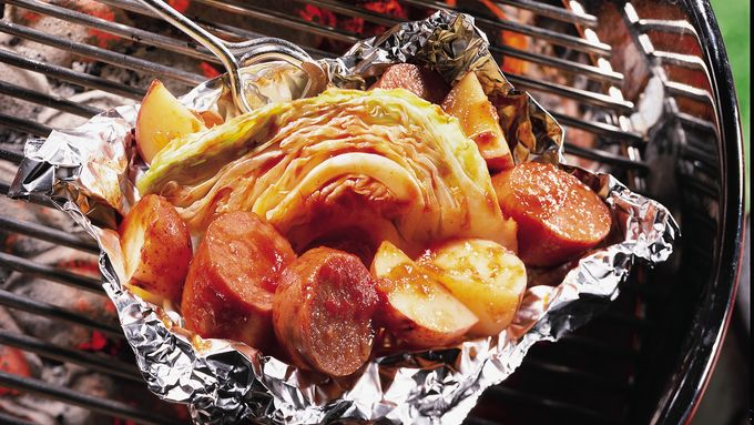 Polish Sausage and Cabbage Foil Pack
