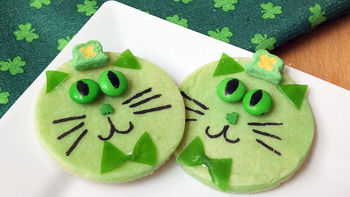 St. Paddy's Day Cat Cookies