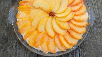 Peach No-Bake Cheesecake