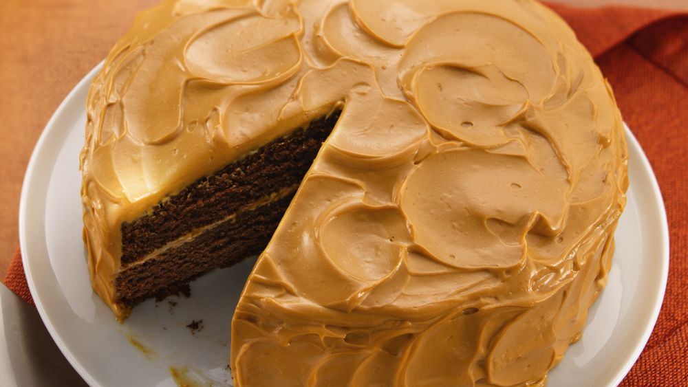 Chocolate Caramel Cake With Condensed Milk