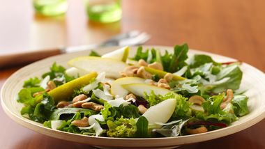 Summer Salad with Asiago, Pears, and Cashews