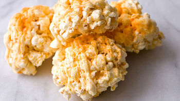White Chocolate Cayenne Popcorn Balls