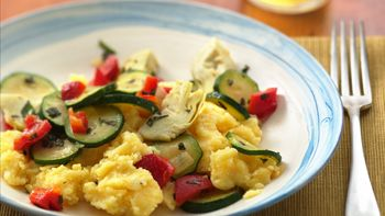 Polenta with Italian Vegetables