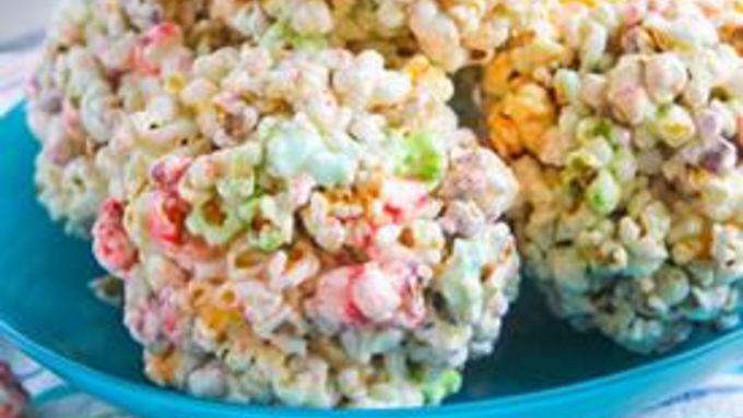 Rainbow Popcorn Balls