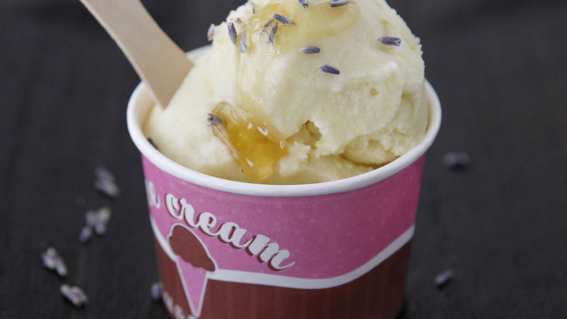Honey-Lavender Ice Cream
