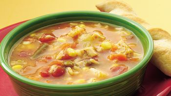 Spanish Chicken and Rice Soup