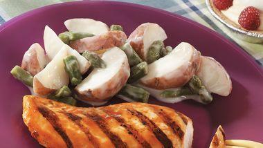 Creamy Potatoes and Asparagus