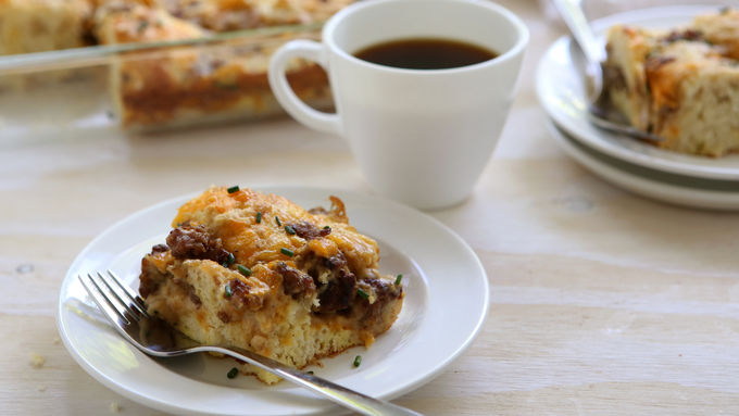 Biscuits and Gravy Breakfast Bake