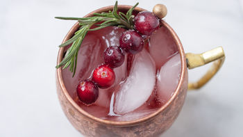 Christmas Moscow Mule Cocktail