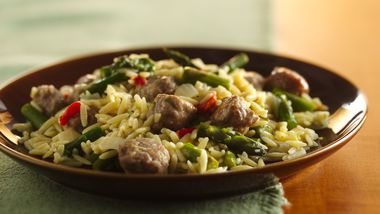 Asparagus and Turkey Sausage Skillet