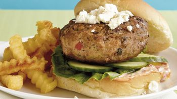 Greek Turkey and Feta Burgers