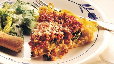 Turkey-Pasta Pie