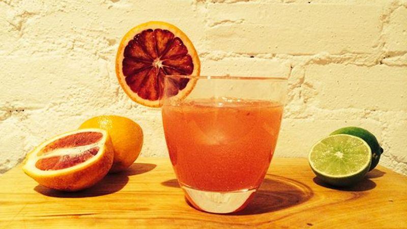 Blood-Orange Ginger-Beer Cocktail