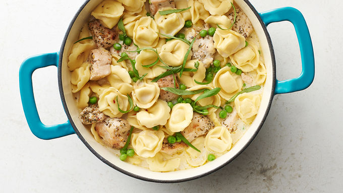 One-Pot Creamy Chicken and Tortellini