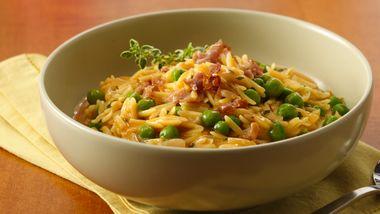 Pastina Risotto with Peas and Prosciutto