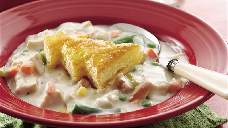 Puff Pastry-Topped Chicken Pie